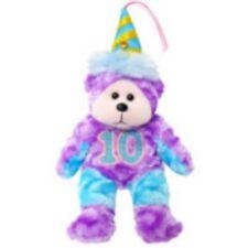 Skansen Beanie Kids Party Time 10th Birthday Bear Bk 605 Gold Button Toy