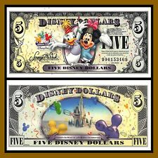 """Disney 5 Dollars, 2009 """"D"""" Series, Mickey """"Celebrate You"""" Uncirculated"""