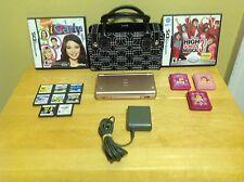 Nintendo DS Lite Launch Metallic Rose Console Bundle w/ Purse Bag, 10 Games ++