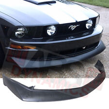 B2 Style Front Lip For 2010 -2012 Ford Mustang V8 Unpainted Black Polyurethane