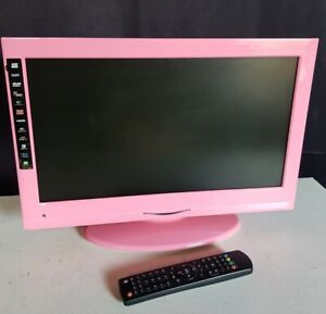 """Digihome Pink Small 19"""" HD TV with built in DVD player Freeview Girls room TV"""