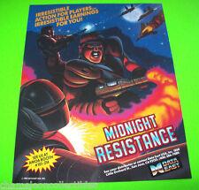 MIDNIGHT RESISTANCE By DATA EAST 1989 ORIGINAL NOS VIDEO ARCADE GAME SALES FLYER
