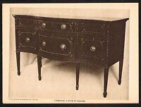 1910s Antique Vintage Shearer Sideboard Antique Furniture Photo Gravure Print
