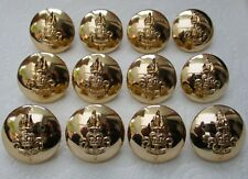 """12x British:""""ROYAL ARMY EDUCATIONAL CORPS BUTTONS"""" (Large, 26mm, Buttons Ltd)"""