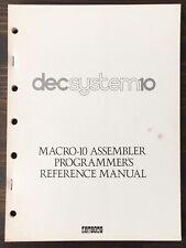 Digital Dec System 10 Macro-10 Assembler Programmer's Reference Manual 1974