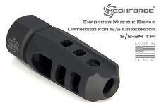 Mechforce Enforcer Muzzle Brake 5/8-24 TPI 6.5 Creedmoor with 4 VT Crush Washers