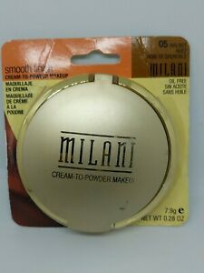 Milani Smooth Finish Cream To Powder Makeup 05 Walnut New 7.9 g