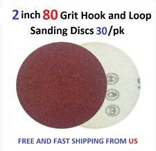2 inch 80 Grit Hook and Loop Sanding Discs 30/pk
