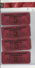 Vintage lot Salisbury Beach Ma. Midway and Frolics Arcade point tickets FRE SHIP