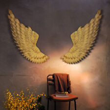 100cm Large Shabby Metal Angel Wings Jesus Gold Chic Wall Hanging Art Home Decor
