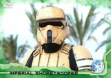 Star Wars Rogue One Green Parallel Base Card #41 Imperial Shoretrooper