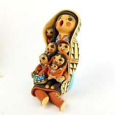 Hand Coiled Native American Jemez Pottery Storyteller V. Virginia Lucero