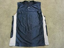 Nike Men's Sleeveless Muscle Athletic Jersey Blue Size L, Vented Sides,Preowned