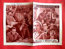 KAVARNA NA HLAVNI TRIDE 1954 CZECH HOGER DITETOVA M. HUBACEK EXYU MOVIE PROGRAM