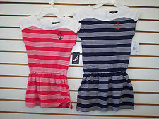 Girls Nautica $34.50 Rose Coral or Navy Striped Dress Size 4 - 6X