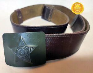 "Uniform Belt Buckle Brown Original Dated Soviet Russian Army (41,3""/105 cm) Used"