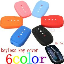Silicone Remote Key Case Cover Shell For Toyota Fortuner Rav4 Highlander Crown