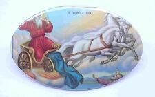 Holy Prophet Elias on Chariot Vintage Greek Orthodox Print Icon on Metal # NEW