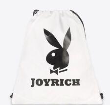 Joyrich x Playboy Off-White Knapsack - Shopping Tote Gym Bag Workout Yoga Travel