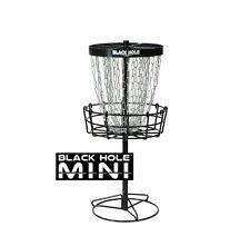 FREE SHIP!!!! NEW MVP Black Hole Mini Disc Golf Basket - Portable - 24 Chains