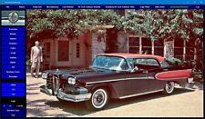 Edsel Anthology 1958 - 1959 -1960 digital encyclopedia dvd-rom photos videos