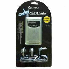 SanSai RD-502 AM/FM Pocket Radio Speaker - Silver