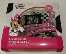 Minnie Mouse Twin Sheet Set New All About The Dots Disney Sheets Pillowcase Pink