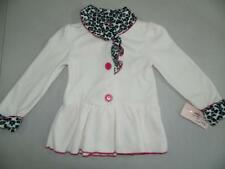 KS586 Kids Headquarters Girl Ivory Three Buttons Front Coat Polyester NWT Size 6