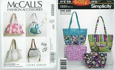 Handbags McCall's M5339 and Simplicity 2830 Patterns Uncut and Cut