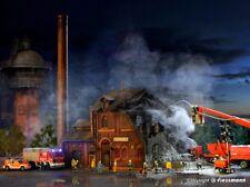 SH  Vollmer  45601 Brennende Fabrik mit Flackerlicht rot und Farbtabletten