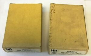 HUBBELL 9419 CAST ALUMINUM PLATE ***LOTOF2***