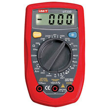 Palm Sized Digital Multimeter Uni-T UT33D Supplied With Battery Test Leads Manua