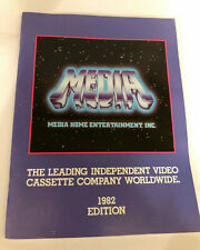 1982 MEDIA VIDEO CATALOG Video Store VHS PROMO Home Entertainment Film Catalog