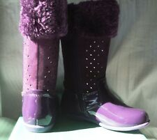 Girls Boot  CLARKS Christina   size 23e purple  aust 61/2