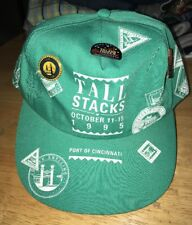 vintage 1995 tall stacks hat with pins