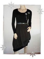 Robe Fantaisie Bi-matière Marron Noire Coyotte Girls Mod. Gingembre Taille 3