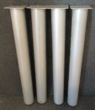 """4 ROUND STEEL INDUSTRIAL TABLE LEGS 27 3/4""""  high AMISCO MFG. CO. CANADA"""