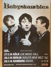 BABYSHAMBLES  -  PETE DOHERTY 2014  TOUR - orig. Concert Poster - Plakat  A1 NEU