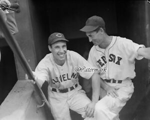 MLB 1940's Bob Feller Cleveland Indians Ted Williams Boston Red Sox 8 X 10 Photo