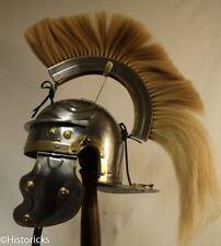 More details for roman gallic helmet - centurion with horse hair crest free helmet stand