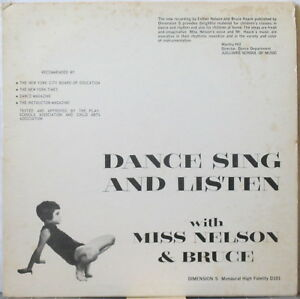 BRUCE HAACK/Miss Nelson: Dance Sing and Listen LP Early Electronic, Dimension 5