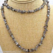 "New Irregular 5x8mm natural Labradorite Gemstone necklace 34 """