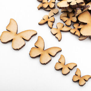 Wooden MDF Shapes Butterfly Scrapbook Embellishments Card Decoration