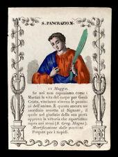 santino incisione 1800 S.PANCRAZIO M. dip. a mano