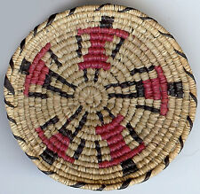 TINY MINIATURE VINTAGE AMERICAN INDIAN WOVEN FIGURAL FRIENDSHIP BASKET