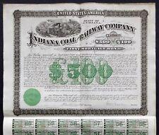 1881 Indiana Coal and Railway Company - Mortgage Bond