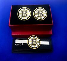 Boston Bruins Tie Clip & Cufflinks Set Hockey Tie Bar US Seller  NEW