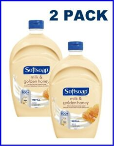 Softsoap Liquid Hand Soap Refill Milk & Golden Honey Scent, 50oz (2 Pack)