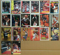 Hakeem Olajuwon LOT of 31 insert base cards HOF NM+ 1992-1998 Houston Rockets