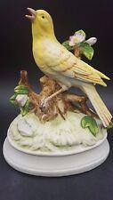 Vintage Gorham Yellow Bird Bisque Porcelain Musical Figurine